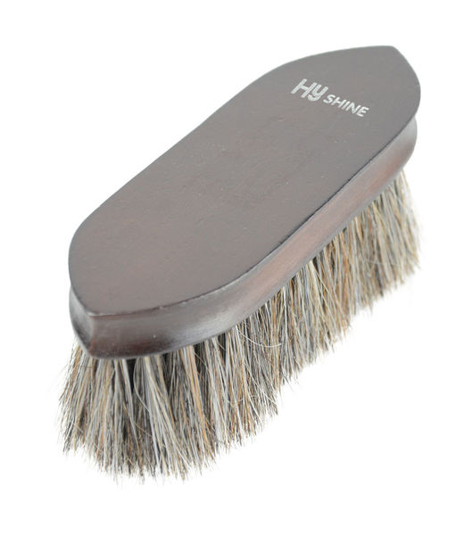 HySHINE Deluxe Horse Hair Wooden Dandy Brush image #1