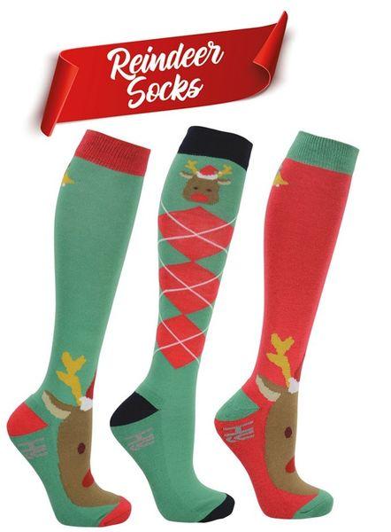 Reindeer socks (pack of 3)