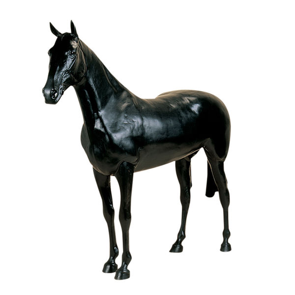 Black Life Size Display Horse