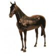 Black Life Size Display Horse (brown)