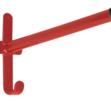 Fixed pole saddle rack red