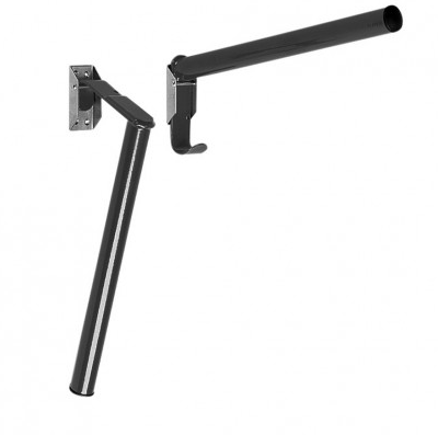 Folding Pole Saddle Rack Black