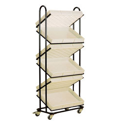 POS Zig Zag Display Trolley