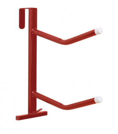 Twin Arm Portable Saddle Rack Red