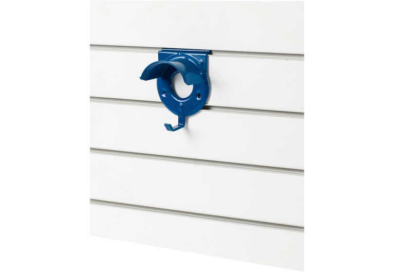 Slat Wall Bridle Rack Blue