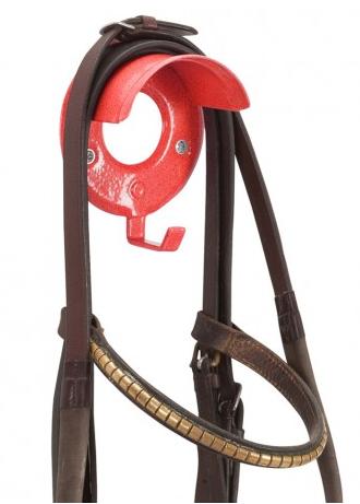 Individual Bridle Rack Red