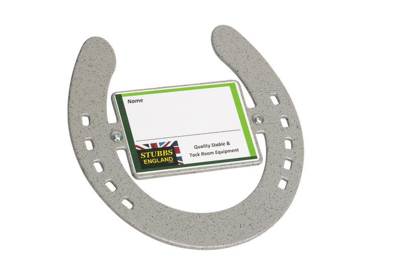 Silver horseshoe nameplate