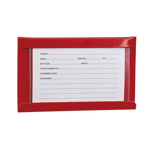 Large Stud Card Holder Red