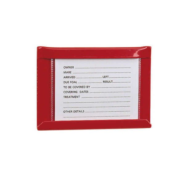 Small Stud Card Holder Red