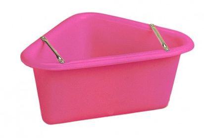 Polythene Corner Manger (pink)