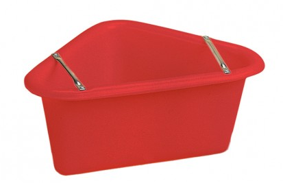 Polythene Corner Manger (red)