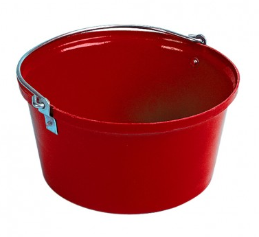 Shallow Feed Bucket Red