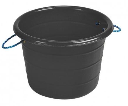 Large Manure Basket Black