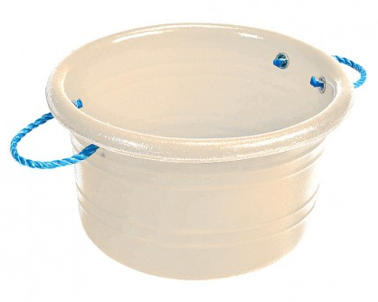 Medium Manure Basket White