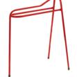 Tall 3 Leg Saddle Display Stand Red