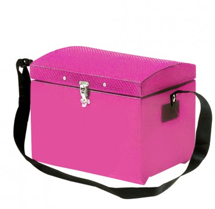 Tack Step With Strap & Fastener Pink