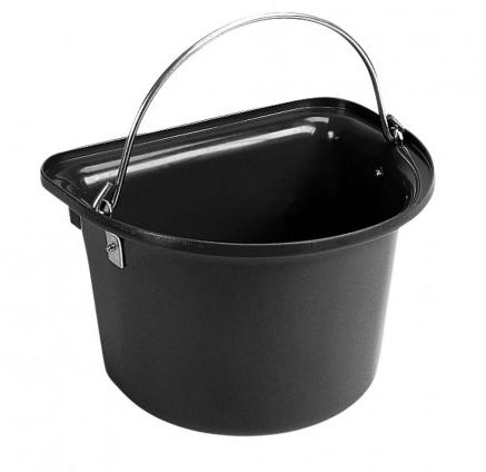 Flat Sided Bucket Black
