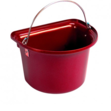 Flat Sided Bucket Red