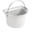 Flat Sided Bucket White