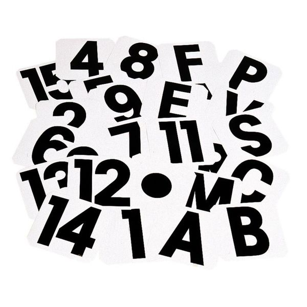 Adhesive Letters & Numbers