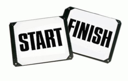 Start / Finish Markers On Plate