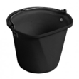 D-Shape 3 Gal Hanging Bucket Black