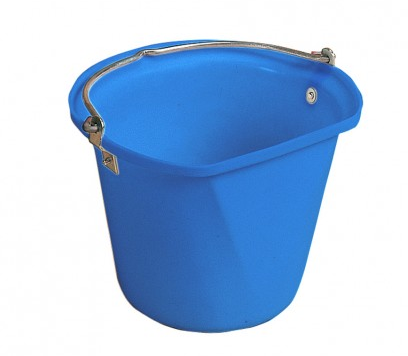 D-Shape 3 Gal Hanging Bucket Blue