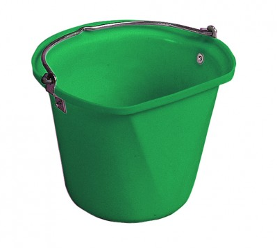 D-Shape 3 Gal Hanging Bucket Green