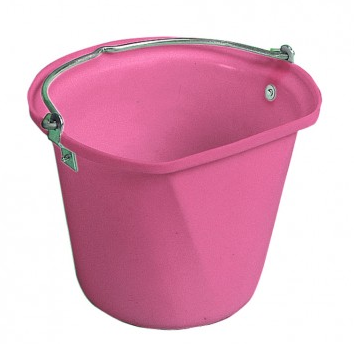 D-Shape 3 Gal Hanging Bucket Pink