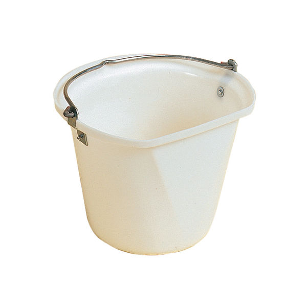 D-Shape 3 Gal Hanging Bucket White