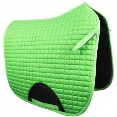 Quilted Dressage Saddle Pad Green
