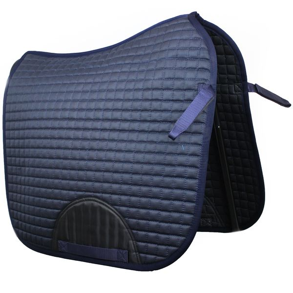 Quilted Dressage Saddle Pad Navy