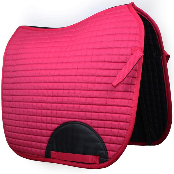 Quilted Dressage Saddle Pad Pink