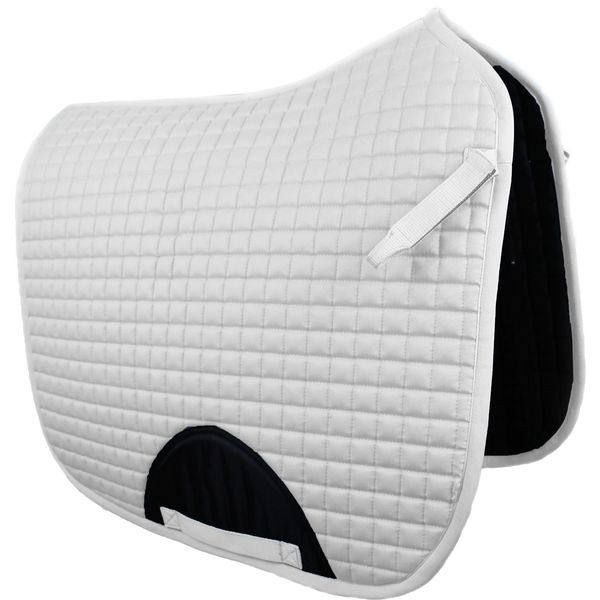 Quilted Dressage Saddle Pad White