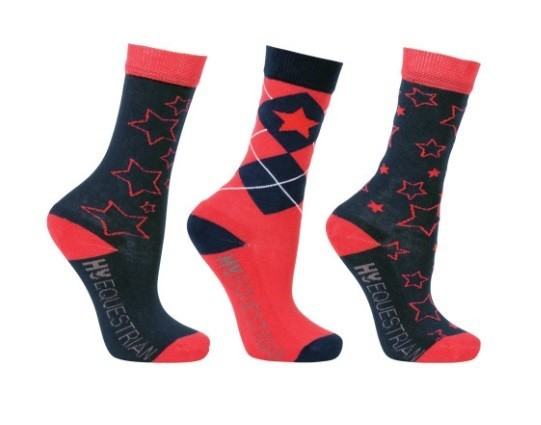 Hy Equestrian Stella Children's Socks (3 pack) image #1