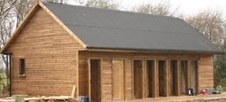 Toilet & Shower Block Near Completion with Corrugated Roof