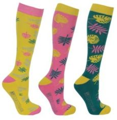 Hy Equestrian Tropical Vibes Socks (Pack 3)