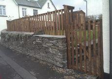 Golden Brown Garden Fence